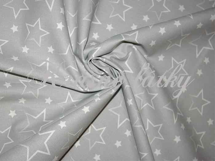 Kouzelnické hvězdy, metráž bavlna, šedý podklad š cm 145gr/m2,látky na kostými,kouzelník,kouzelnický kostým,hvězdy,noční obloha
