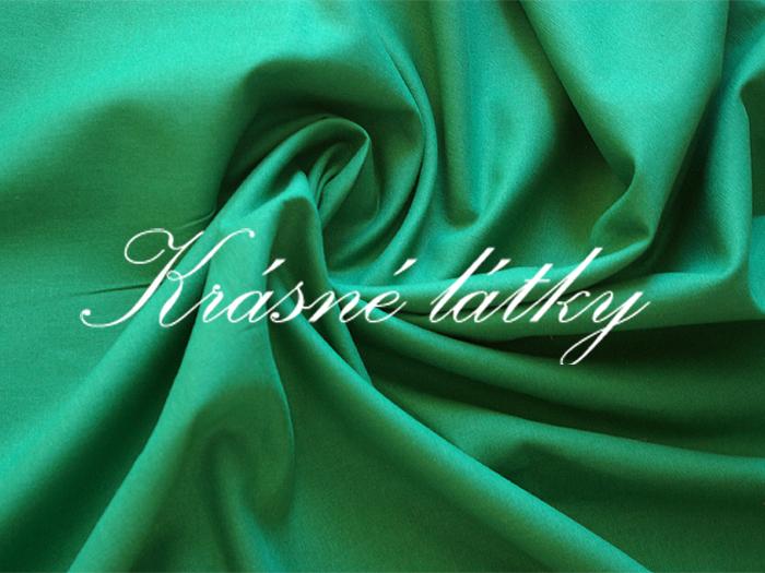 Lahvově zelené plátno v krásné tmavé barvě, jednobarevná metráž-bavln
