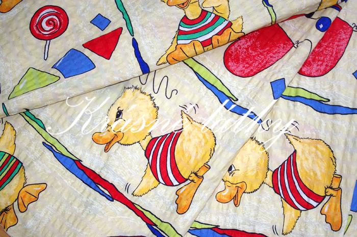 Kačenky - 100% bavlna, bavlněná metráž, dětská metráž, bavlněné látky