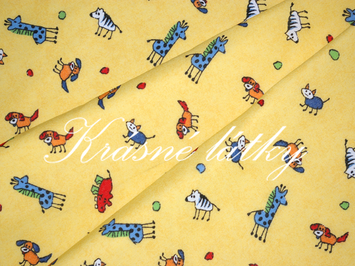 nezbedná zvířátka - bavlněné plátno, dětská metráž na dětské výrobky