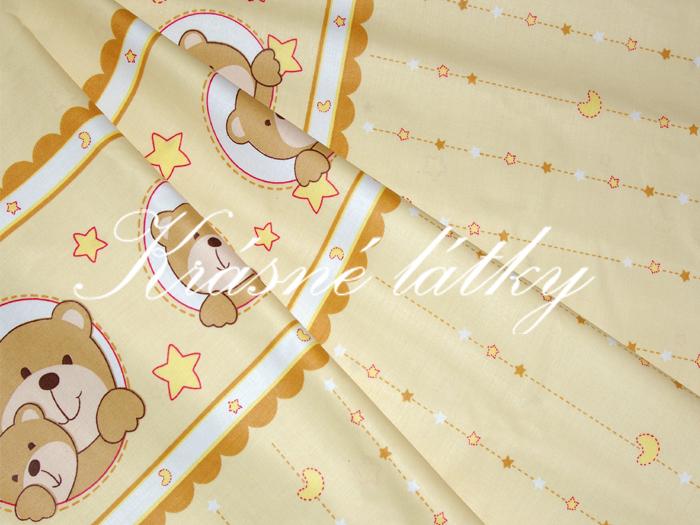 Medvídek okrový - béžový - 100% bavlna