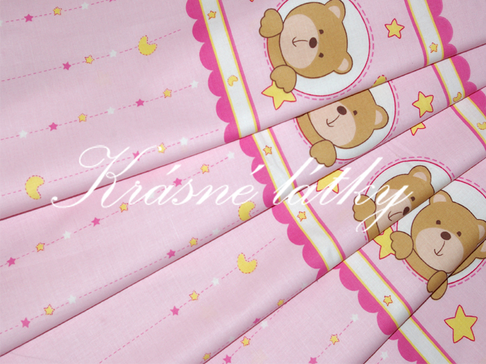Medvídek HEZKÉ SNY růžové provedení - 100% bavlna
