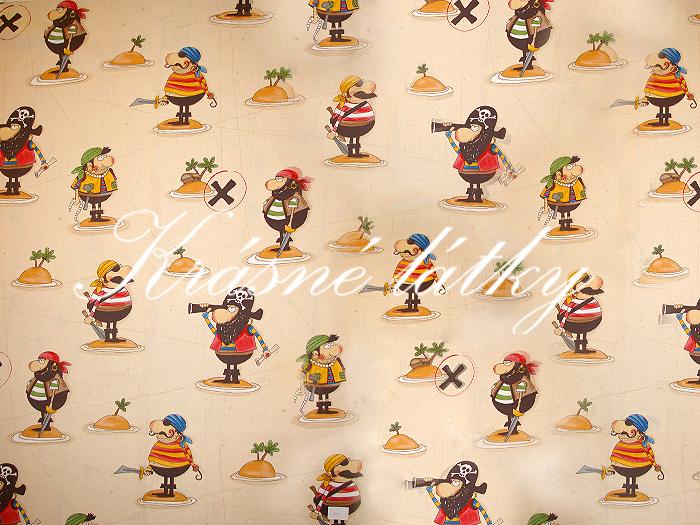 Piráti 100% bavlna vysoké kvality,š.160cm