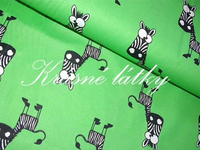 Zebra - 100% bavlna vysoké kvality,š.160cm, zebry z
