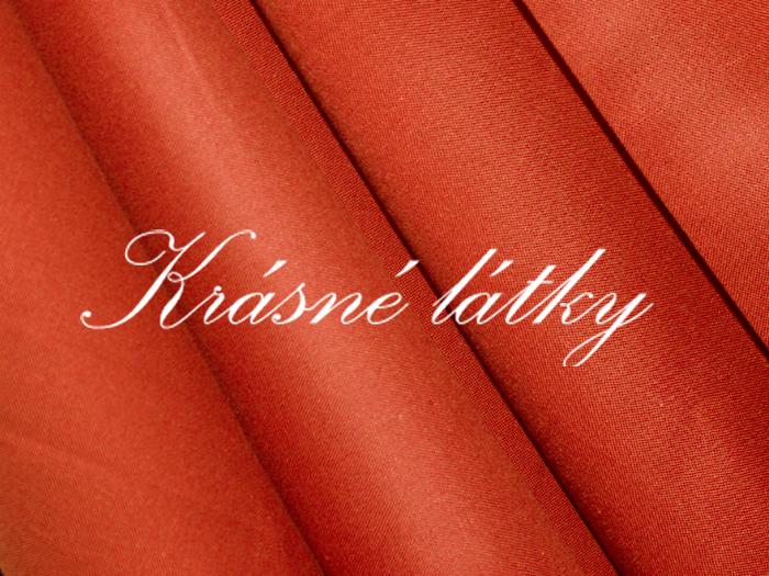 Sytě oranžové plátno v krásné tmavé barvě, jednobarevná metráž-bavlna,