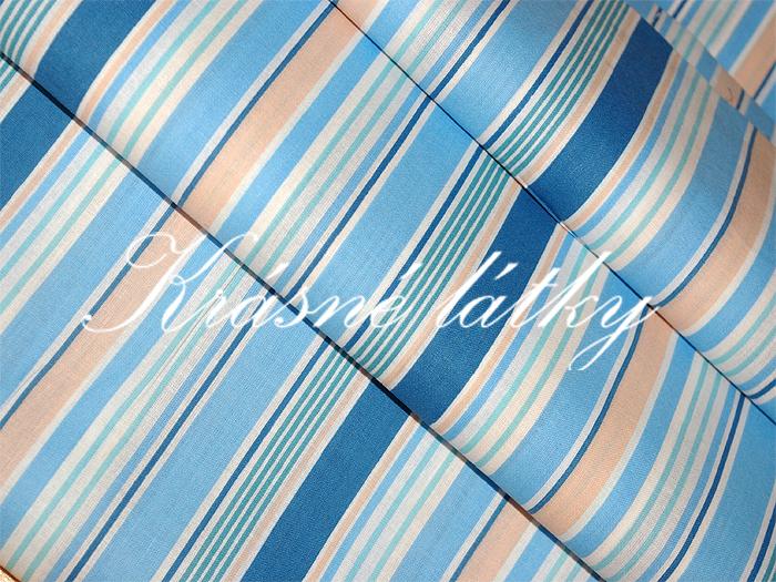Modrý proužek - bavlněné plátno