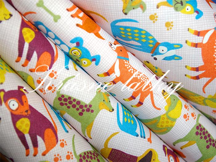 Pejsci značková metráž v pěkné kvalitě - š.160 cm 100% bavlna- 100% bavlna v pestrých barvách. na dětské výrobky a deky