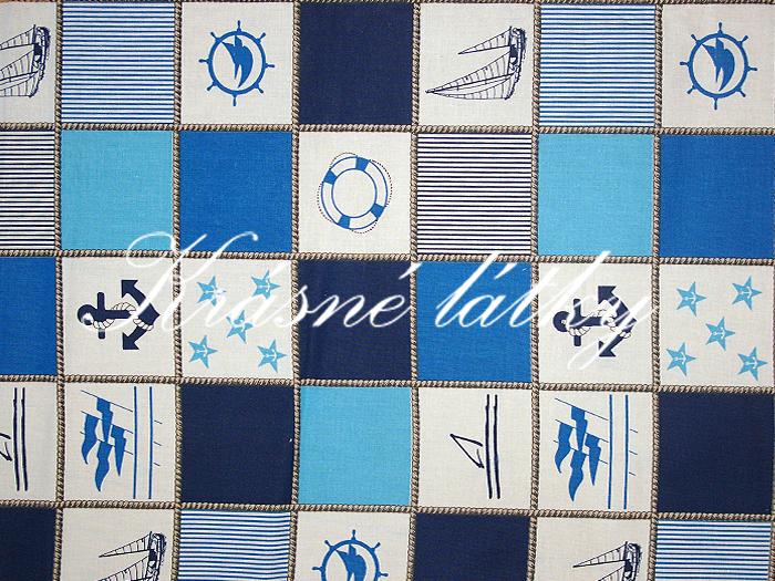Námořnický patchwork 100% bavlna, značková metráž 145g/m2 š.160cm