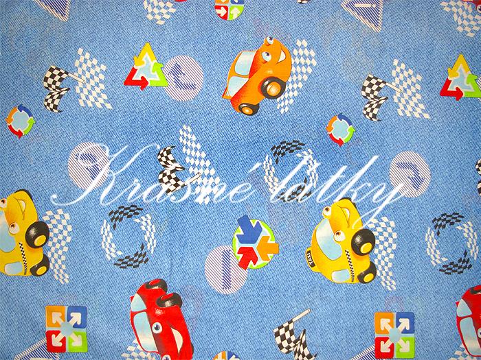 Autíčka značková metráž v pěkné kvalitě - š.150 cm 100% bavlna- 100% bavlna v pestrých barvách. na dětské výrobky a deky