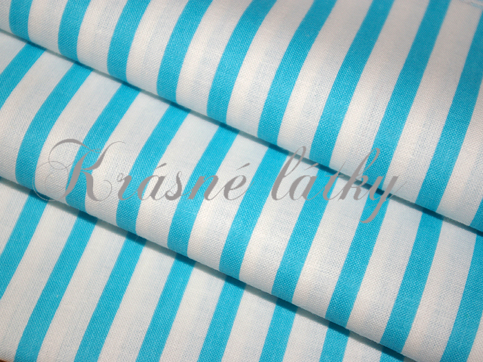 modrý proužek 100% bavlna