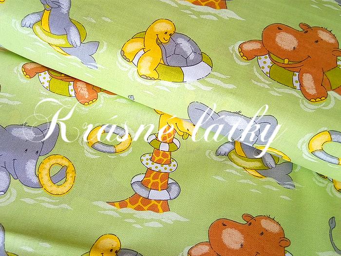 Bavlněné plátno zvířátka,látka bavlněná, dětská metráž,135gm2