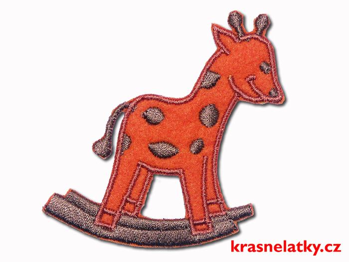 Nažehlovačka - Žirafa oranžová, nažehlovací aplikace