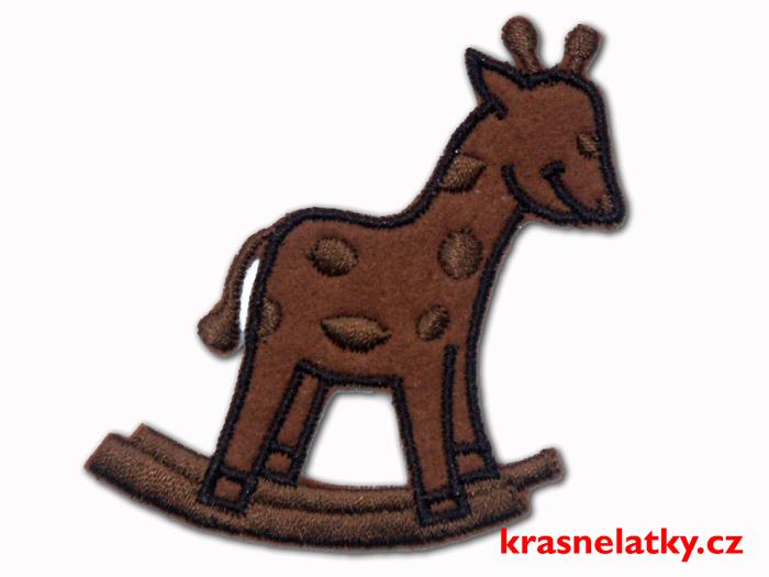 Nažehlovačka - Žirafa hnědá, nažehlovací aplikace