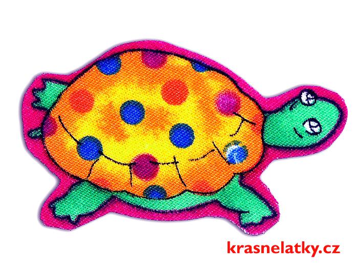 Nažehlovací aplikace želvička, nažehlovačka, záplata, zářivá dekorace
