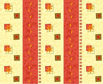 Květiny 5 červená - flanel