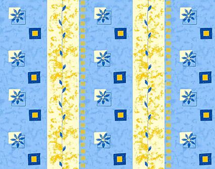 Květiny 5 modrá - flanel