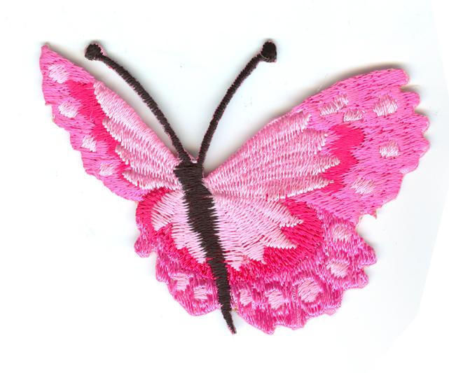 Nažehlovačka 38 - Motýlek - růžový