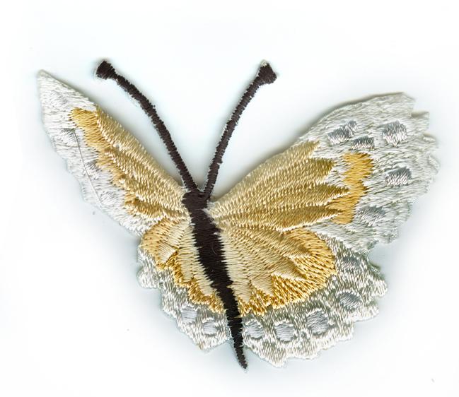 Nažehlovačka 40 - Motýlek - krémový