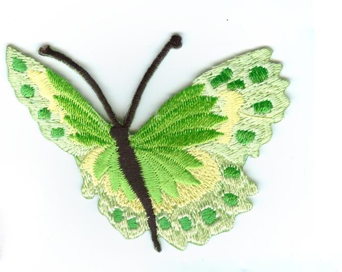 Nažehlovačka 42 - Motýlek - zelený