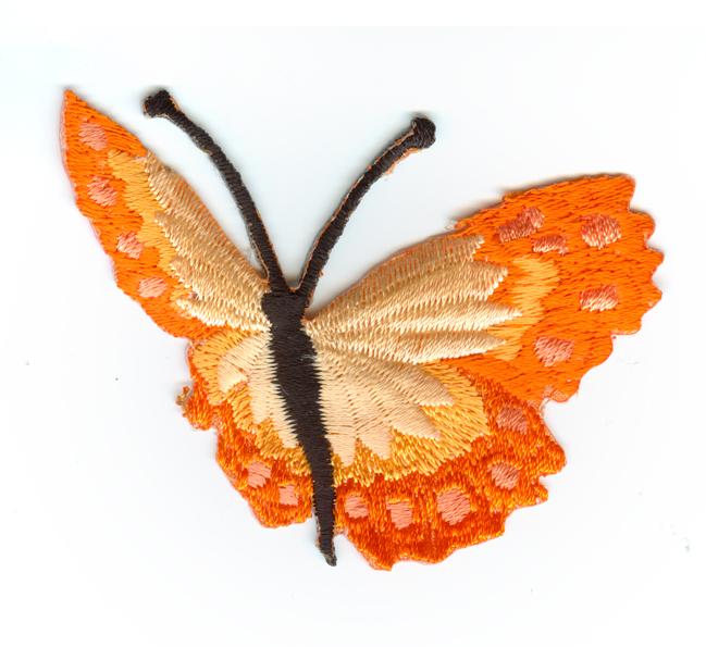 Nažehlovačka 43 - Motýlek - oranžový