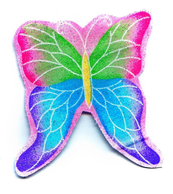 Nažehlovačka 44 - Motýlek se třpytkami!