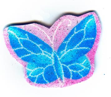 Nažehlovačka 47 - Motýlek se třpytkami!