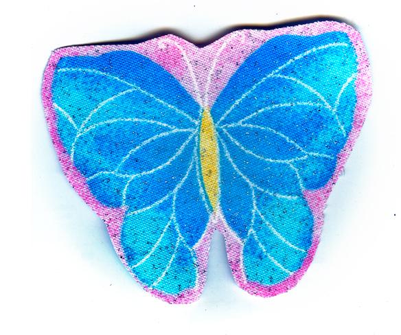 Nažehlovačka 49 - Motýlek se třpytkami!