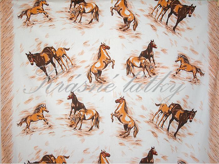 Koně š. 140cm - bavlněné plátno 96ae89fc366