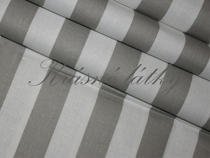 Šedý proužek 100% bavlna 2661f1930fb