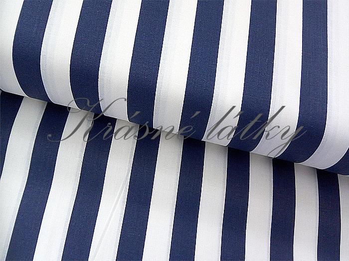 6cc2254efb9b Tmavě modrý proužek 100% bavlna