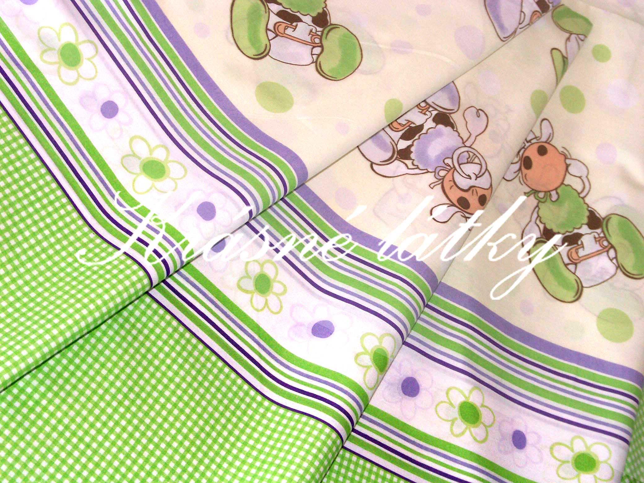 Pejsek se zajíčkem a slonem - bavlněné plátno, dětská metráž na dětské
