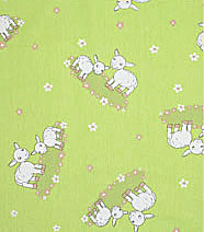 Ovečky zelené - 100% bavlna